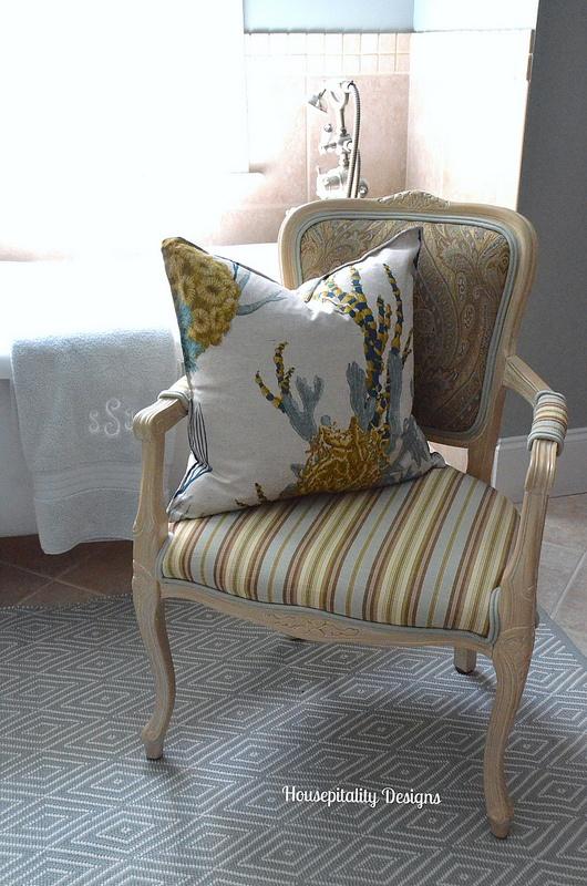 Master Bathroom Chair-Housepitality Designs