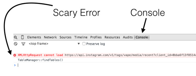 XMLHttpRequest Error