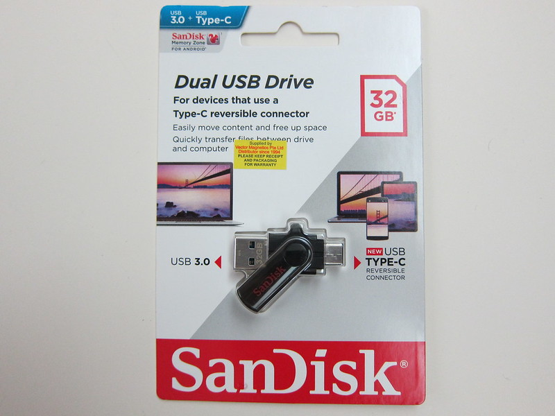 SanDisk Dual USB Drive Type-C - Packaging Front