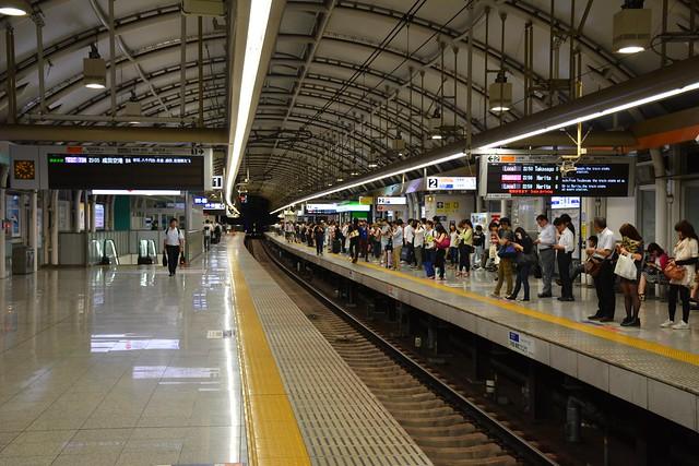 京成日暮里駅:成田方面のりば