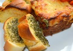 Cranstons Lasagne and Garlic Bread