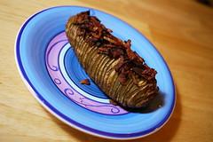 Garlic Bacon Hasselback Potato