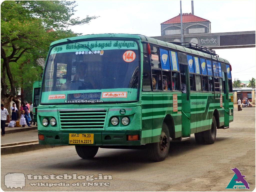 TN-23N-2225 of Koyambedu Depot Route 144 Chennai - Pakala Via Poonamallee, Muthukadai, Thiruvalam, Chittoor.