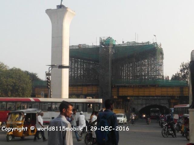 Upcoming metro steel bridge at Oliphanta bridge over railway underpass in Secunderabad
