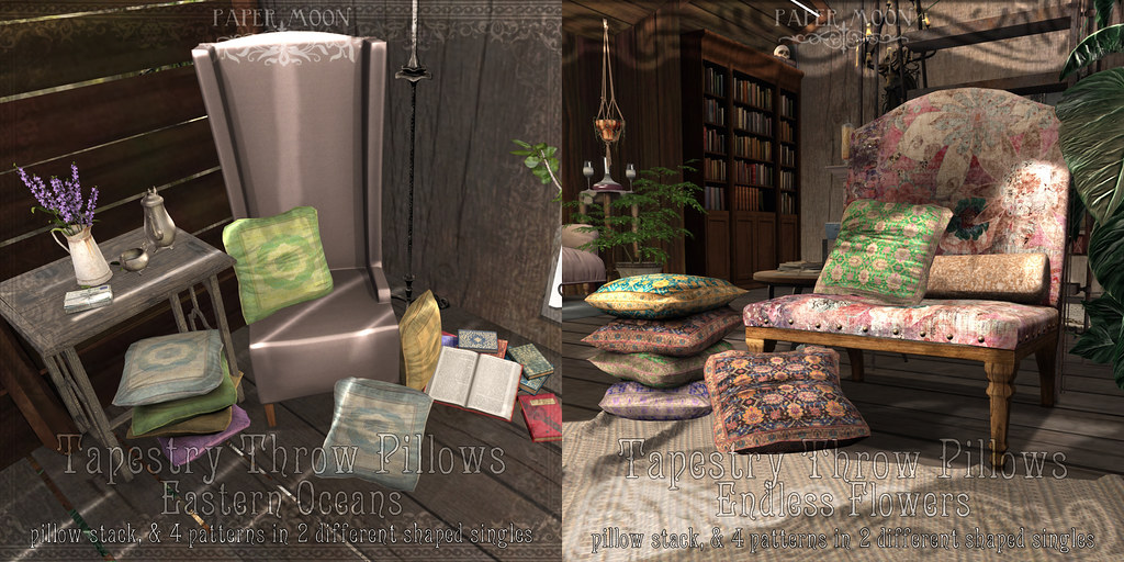 *pm* Tapestry Pillows - SecondLifeHub.com
