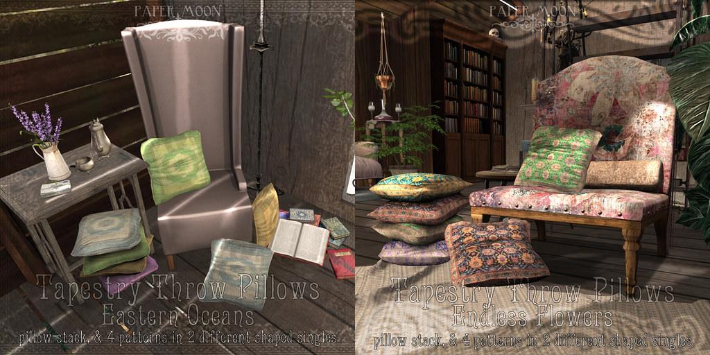 *pm* Tapestry Pillows - SecondLifeHub.com