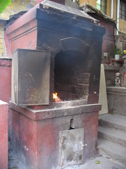 masonry oven, iron, hearth,