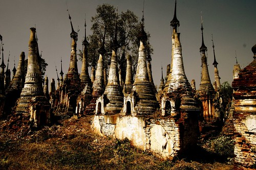 Indein Stupas. Myanmar hiking