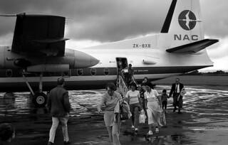 Disembarking at Palmerston North, 1974