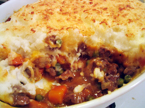 shepherd's pie inside
