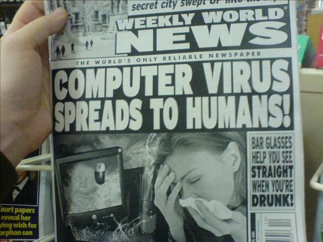 Computer Virus Spreads to Humans