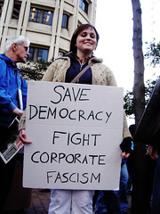 Save democracy fight corporate fascism