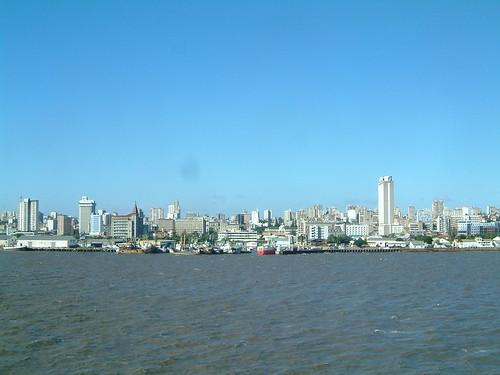 Maputo skyline from cruiseship East Africa