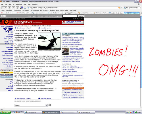 Fake BBC News Story 2005