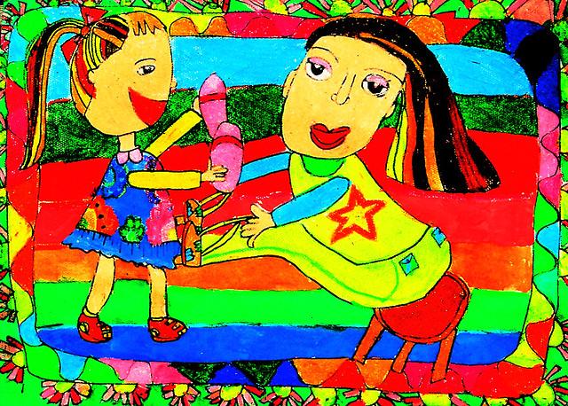 当代儿童画一幅