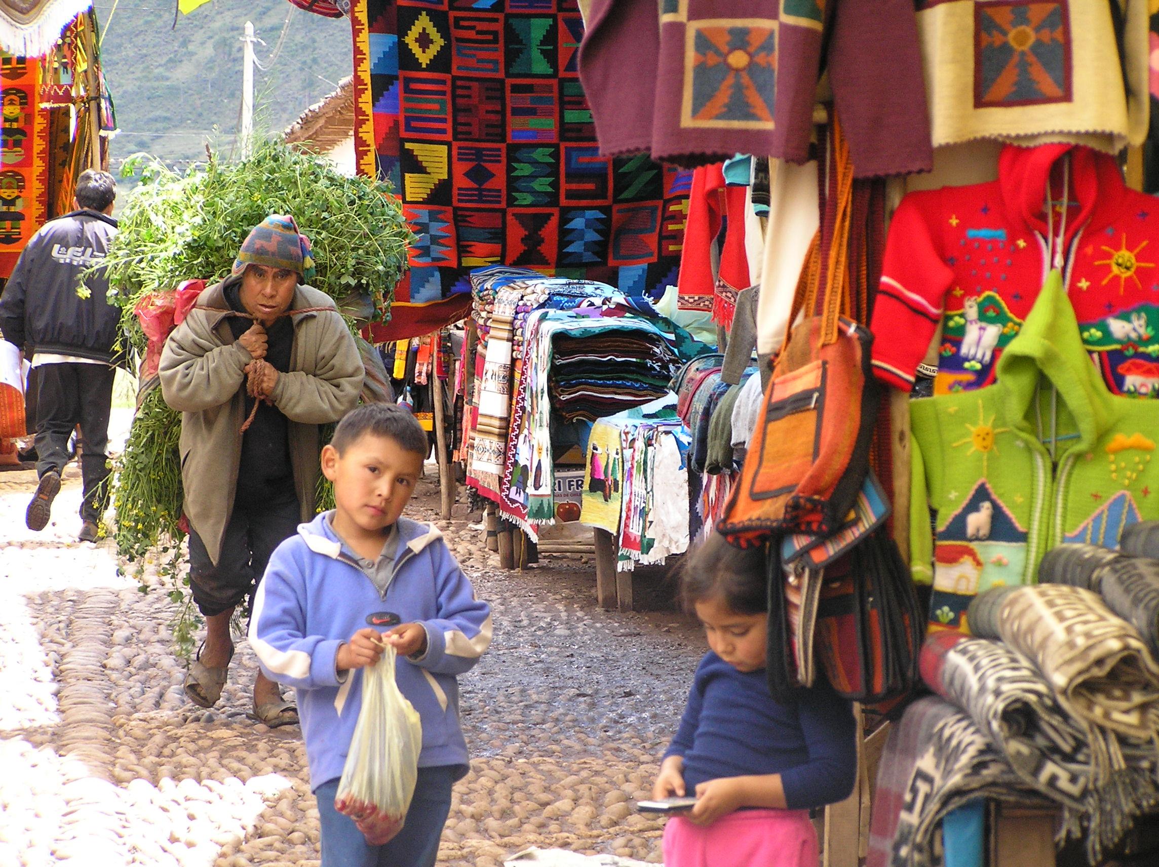 A market in Peru