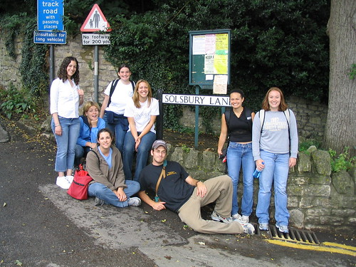 On our way to Solsbury Hill, 2003