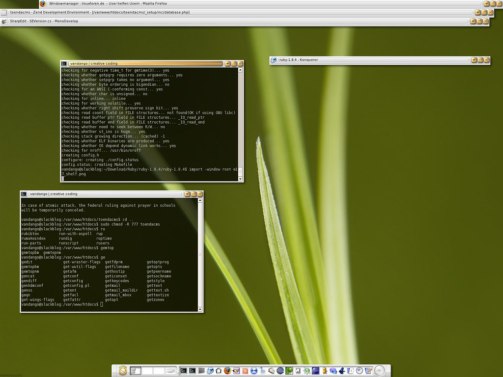 E17 with Shelf bar   Slackware 10 2, Enlightenment DR 0 16 9…   Flickr