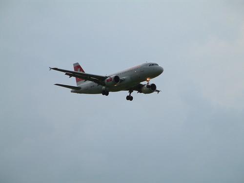 Plane approaching ZRH