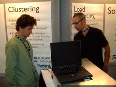another trip to the rlx blade server booth   dscf2300