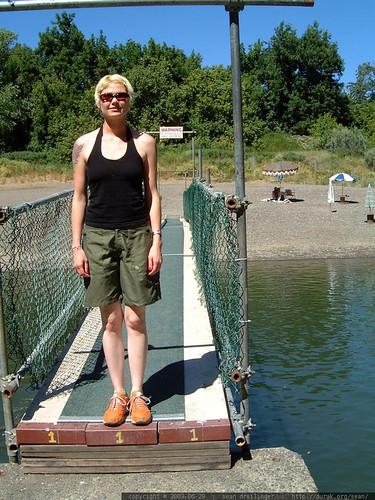 rachel crossing the russian river   dscf5575