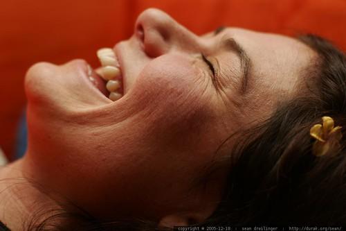 profile of a happy woman