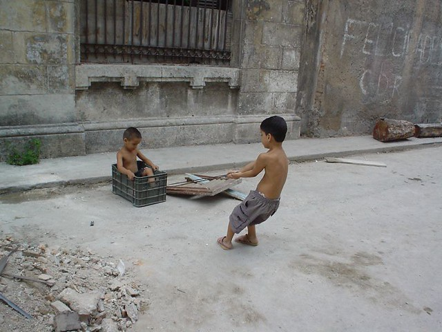 Children playing in Havana, Cuba