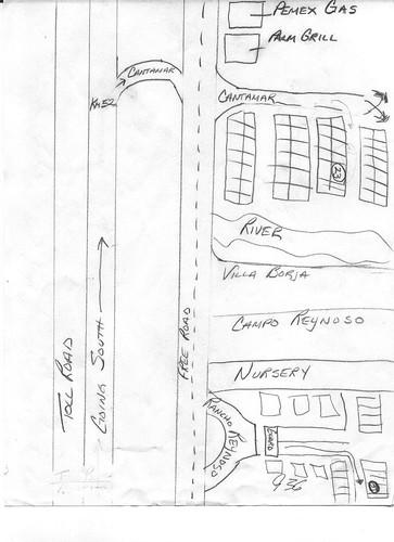 El mappa es la direcciones a casa.