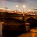 Battersea Bridge at Sunset by kayodeok