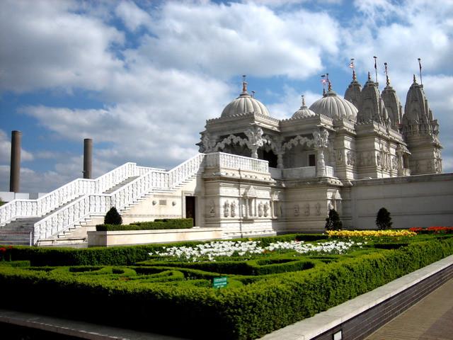 Temple And Smoke Stacks