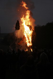 Wicker Man burning