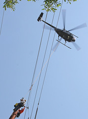 Helicopter Lowering Some Heavy Equipment