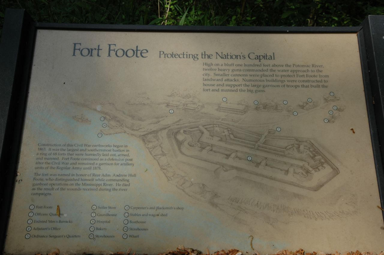 Mapa Fort Foote