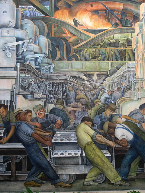 Diego rivera painting flickr photo sharing for Diego rivera detroit mural