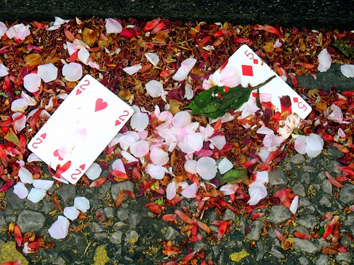 Discarded Playing Cards, Paul Street, Stratford 06-05-2006