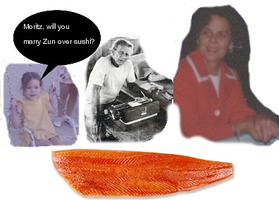 zun and moritz over sushi