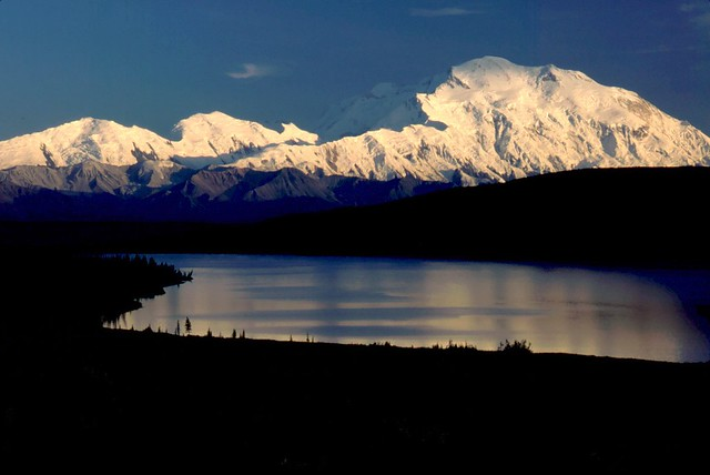 Denali (Mt. McKinley) - Denali National Park, Alaska USA - View from Wonder Lake