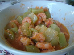produce(0.0), shrimp(1.0), stew(1.0), curry(1.0), vegetable(1.0), seafood(1.0), food(1.0), dish(1.0), cuisine(1.0), gumbo(1.0),