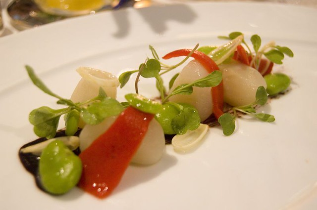 3rd Course: Salad of marinated sunchokes | Flickr - Photo Sharing!