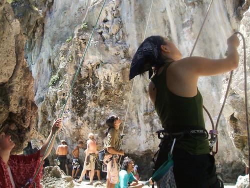 thailand, railay, rock climbing, i-wei DSCF0359