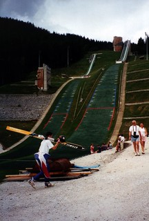 Dry ski jump slope, Le Praz, Courchevel