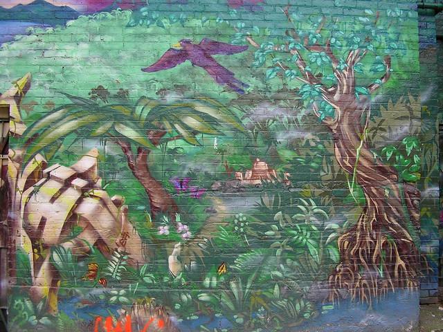 Tree Garden Mural Paint For Girl Room