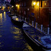boats by night in Venice by freemysoul