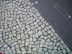 art, sidewalk, flagstone, cobblestone, road surface, walkway,