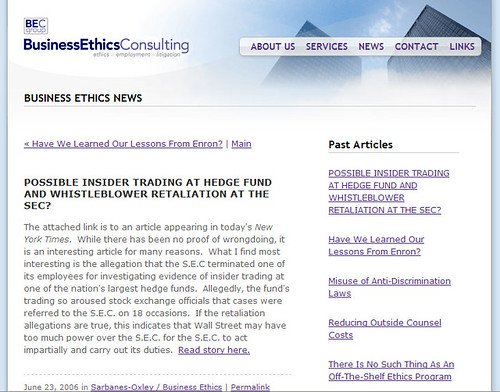 Launch: Business Ethics Consulting Website