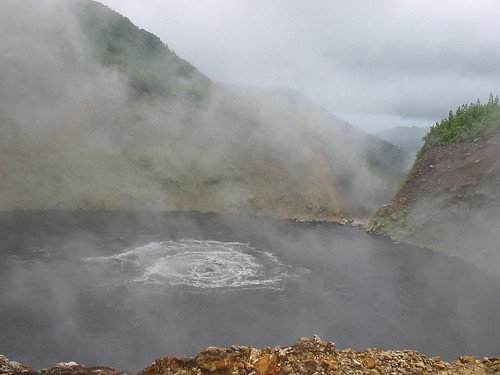 The famous boiling lake