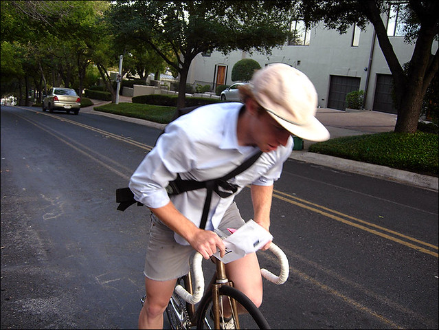pj doubles as a newpaper boy in this race