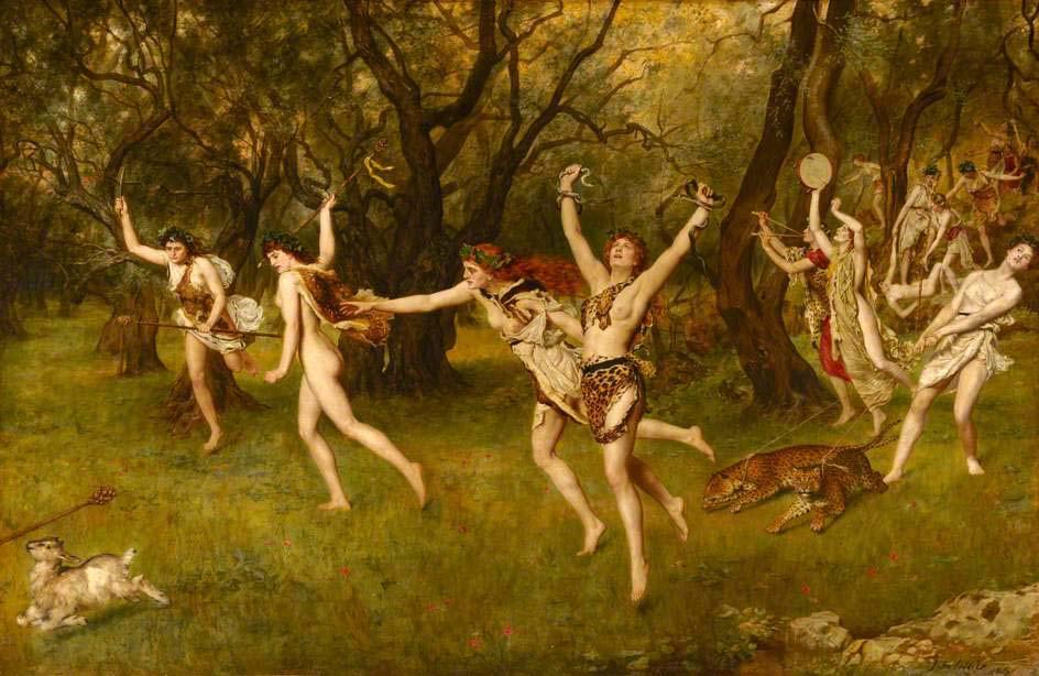 John Collier: Maenads, 1886