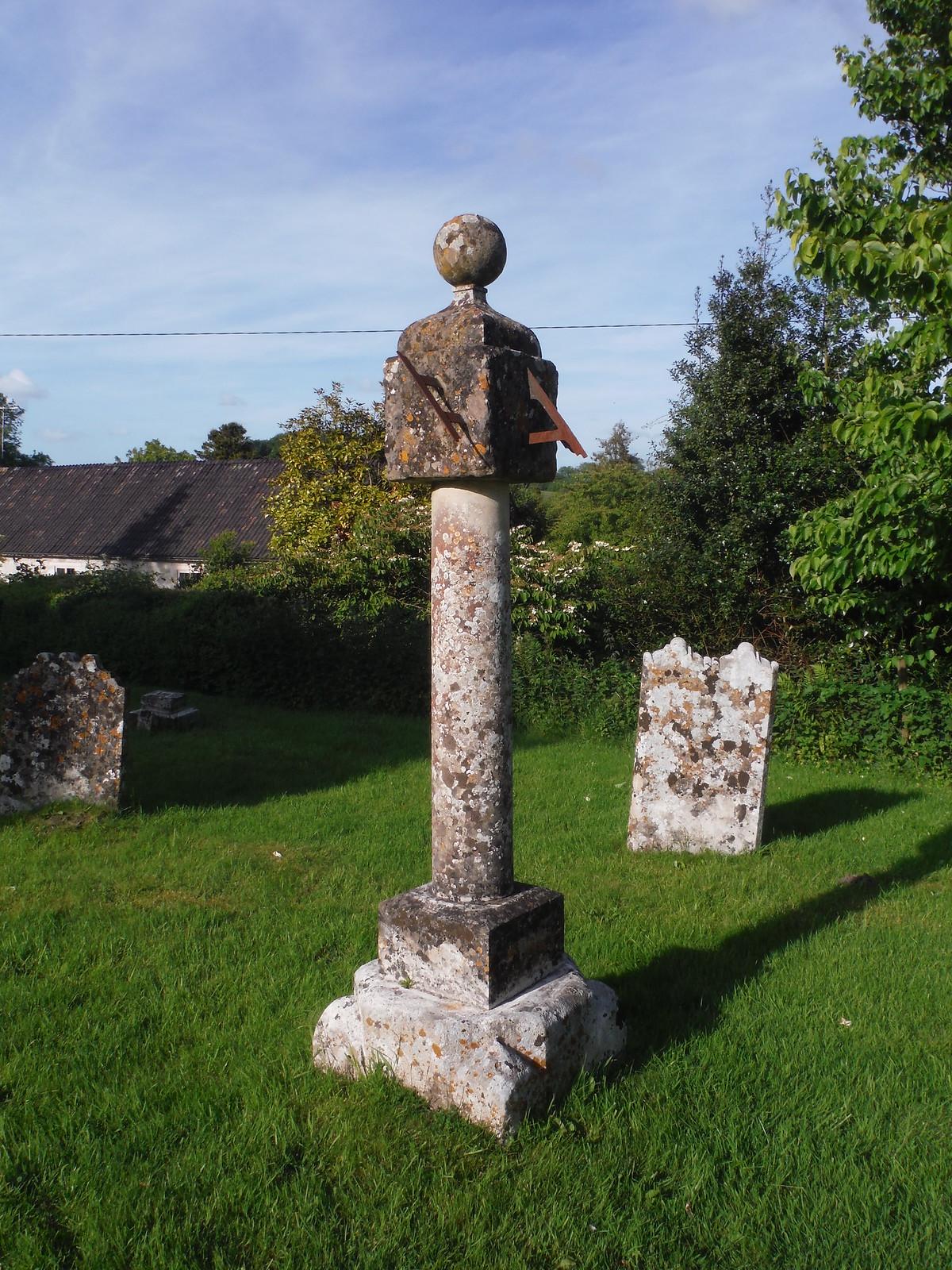 Grade II-listed Sundial at All Saints, Sutton Mandeville SWC Walk 249 Tisbury Circular via Dinton and Fovant