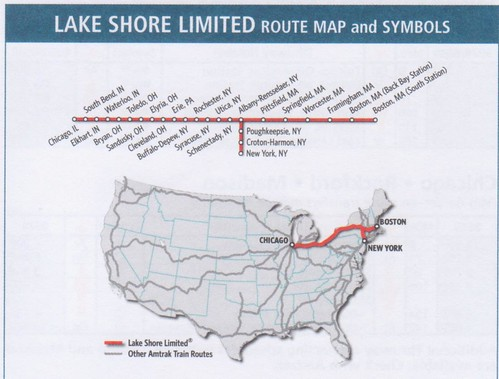 Lake Shore Limited 2015 Map